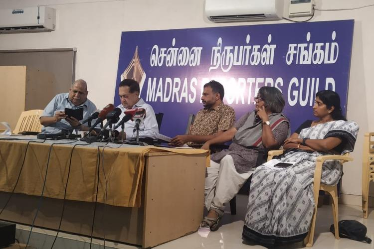 Chennai journos civil society activists slam Press Council seek removal of media blockade in Kashmir