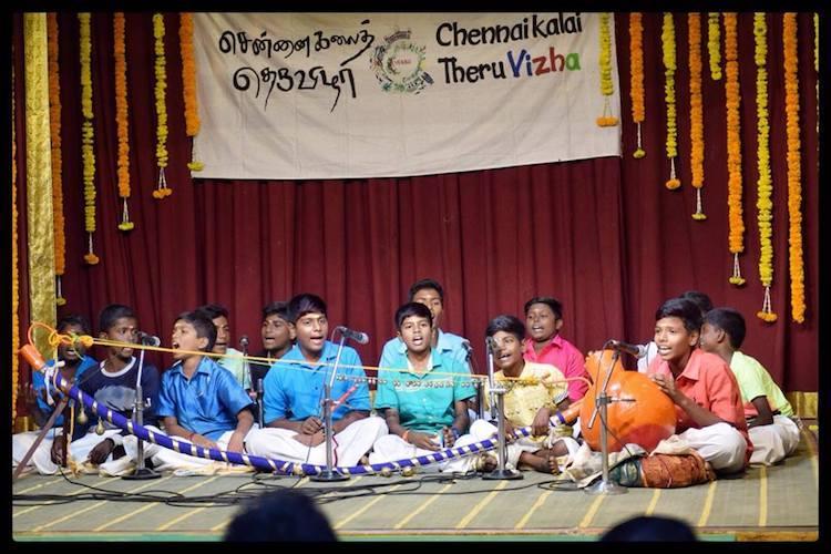 Villupaatu in Mylapore sabha Urur Olcott Kuppam Vizha is now Chennai Kalai Theru Vizha