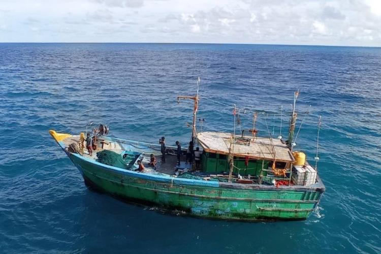The boat along with 10 fishermen that went missing from Chennai and was found in Myanmar