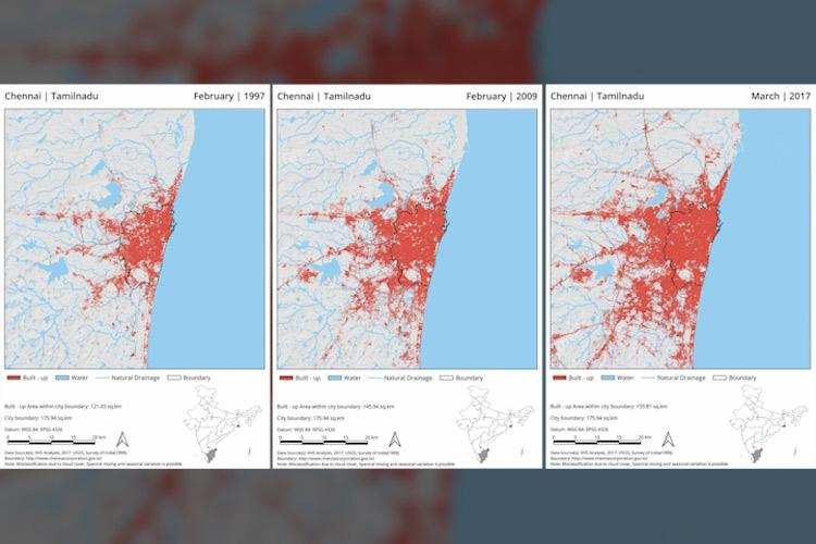 Mapping how growth in Kochi Mumbai and Chennai made them flood and drought-prone