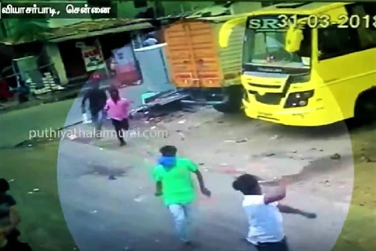 Watch Masked assailants chase and attack rowdy in Chennai neighbourhood