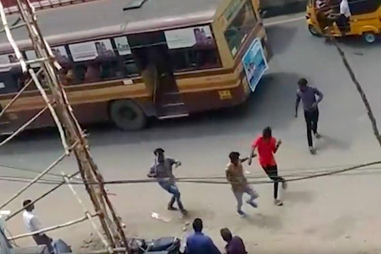Chennai college gang fight spills on to the streets two Pachaiyappas students attacked