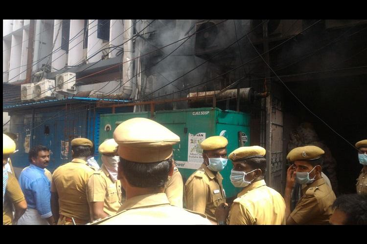 Fire breaks out at Chennais Parry Corner no injuries reported