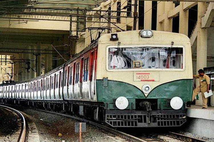 A Suburban train in Chennai