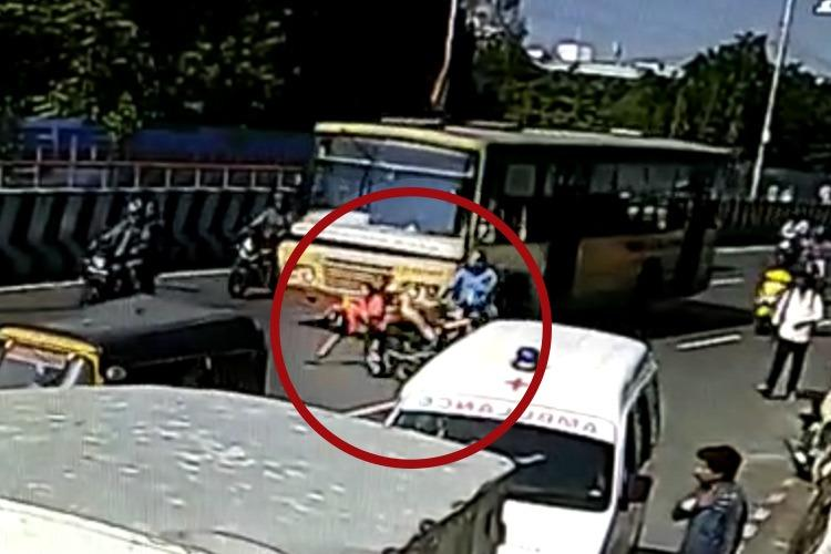 2 women dead after falling under bus while riding triples on bike in Chennai