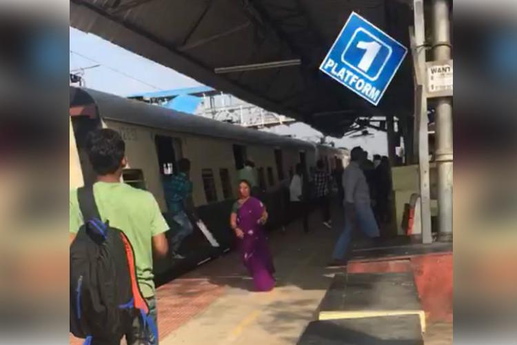 Brandishing knives sickles rival college students vandalise Chennai railway station