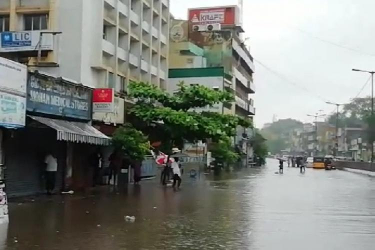 Flooded roads of Chennai during North East Monsoon