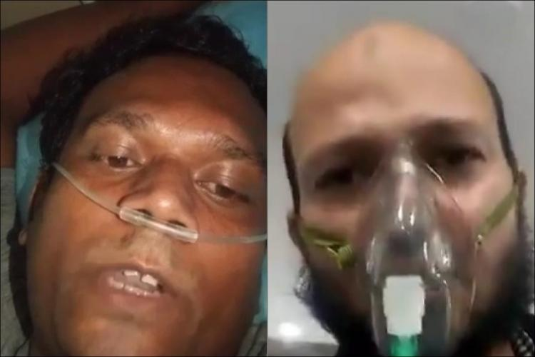 A collage of two patients who tested positive for the coronavirus in Hyderabad and recorded videos shortly before their death
