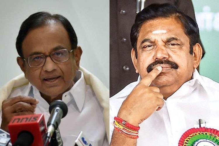 War of words escalates as TN CM calls P Chidambaram a burden to earth