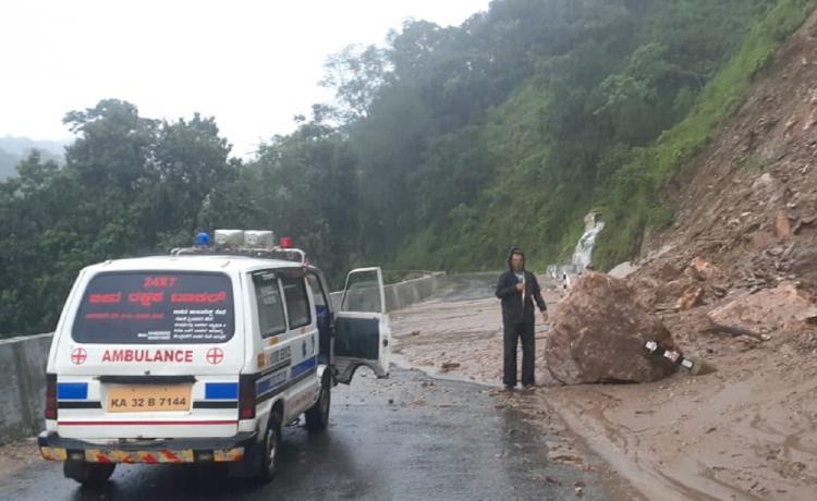 Landslide in Chikkamagaluru