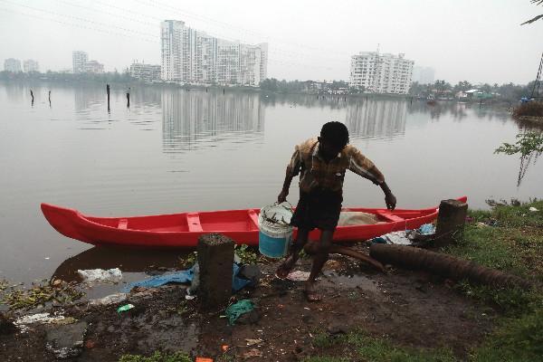 In Kochi waterfront apartments eating away at lake habitats