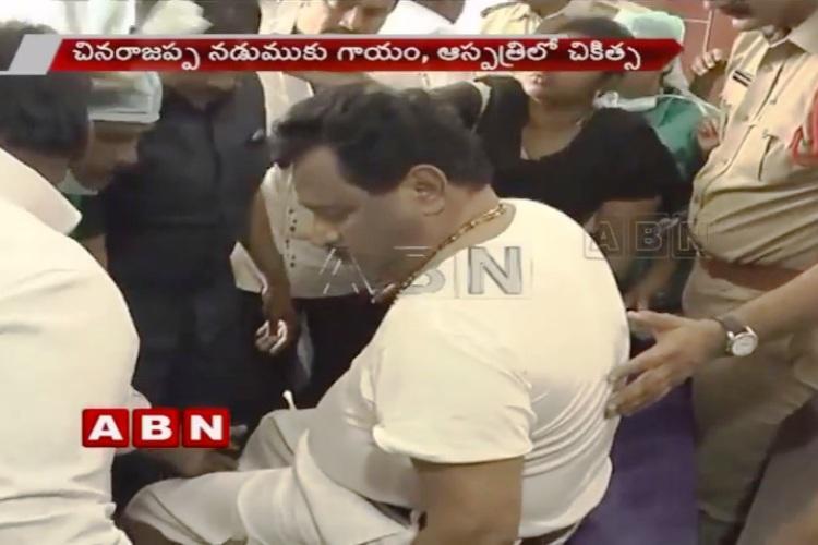 Andhra deputy CM N Chinarajappa injured after elevator wire snaps