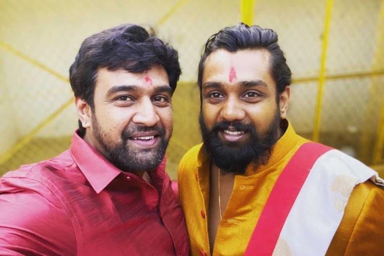 Chiranjeevi Sarja and Dhruva Sarja picture together