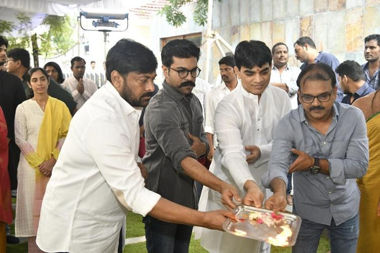 Megastar Chiranjeevi's new film launched