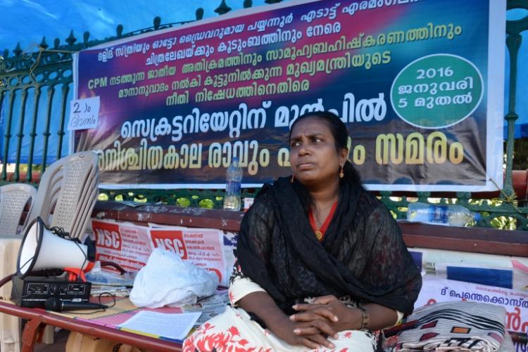 Dalit woman Chitralekhas auto still caught in Chandy road-block