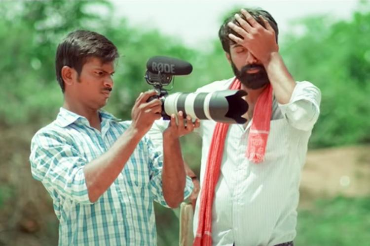 A man is seen learning how to use a camera, while another man is expressing disbelief through a facepalm.