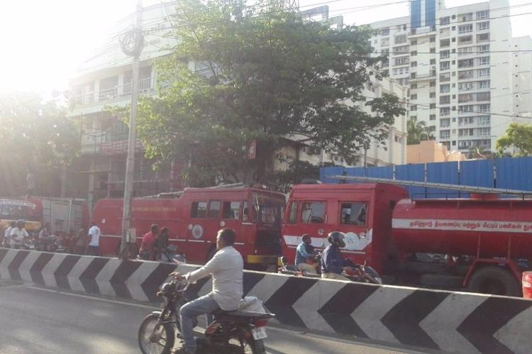 Fire at another shopping complex in Chennai blaze at City Mall in Purusawalkam under control