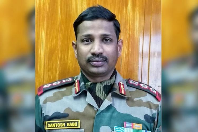 Colonel Santosh Babu in Army uniform