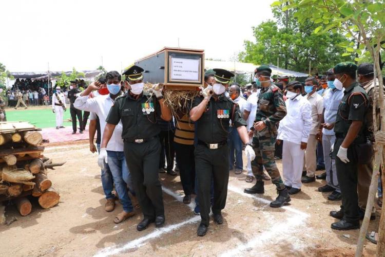 The last rites of Colonel Satish Babu
