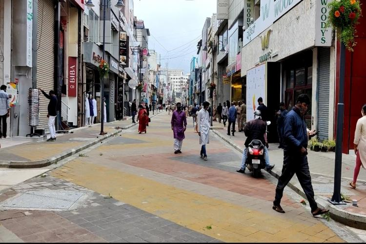 Bengalurus Commercial Street gets a makeover parking still an issue