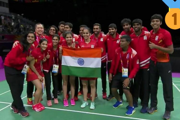CWG 2018 India clinches historic gold in badminton mixed team event