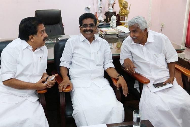 Ramesh Chennithala Mullapally Ramachandran and Ommen Chandy discussion