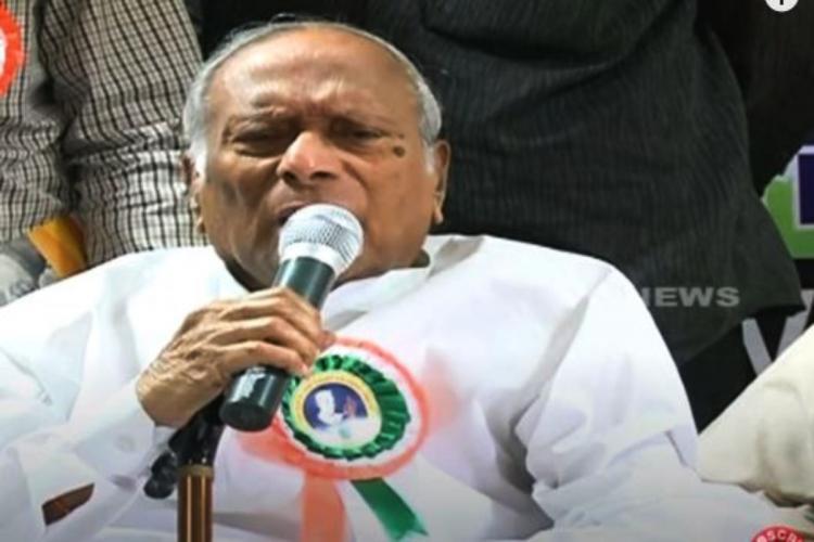 Congress veteran and ex-Minister M Satyanarayana Rao dies of COVID-19