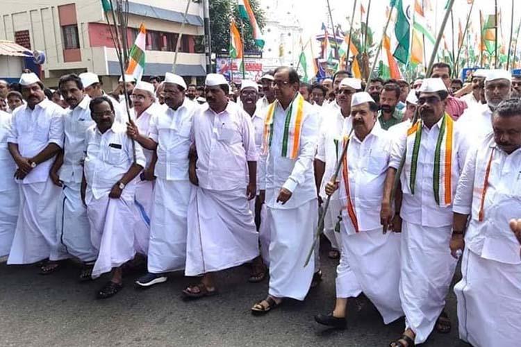 Congress leaders in Kerala lead anti-CAA protest march P Chidambaram takes part