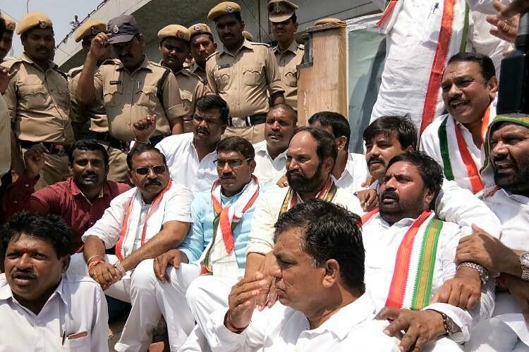 Protest to return Dharna Chowk to Hyderabad intensifies several Congress leaders detained