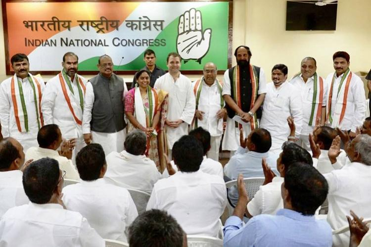 Former Telangana BJP leaders meet Rahul Gandhi join Congress