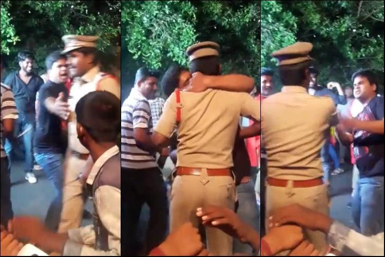 Drunk man hugs and kisses Hyderabad cop on duty gets booked