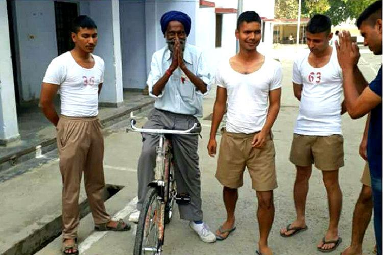 Kindness in uniform These police recruits gifted a hawker a new bicycle after his was stolen