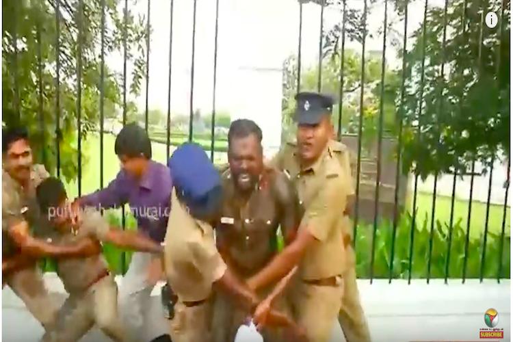 Two TN cops attempt self-immolation outside DGP office allege caste discrimination