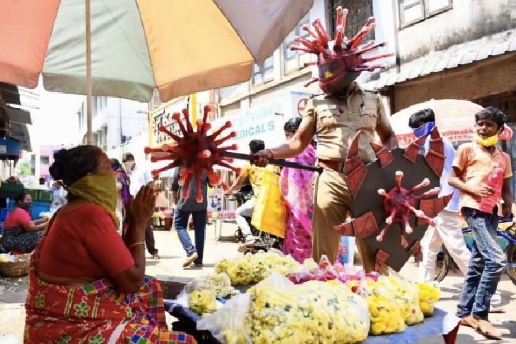 Meet the Chennai artist who created the viral coronavirus helmet