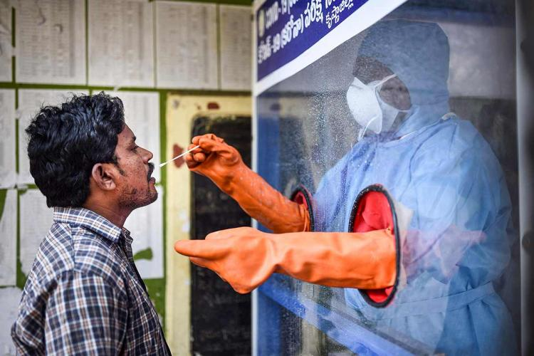 A health worker amid the coronavirus pandemic in India