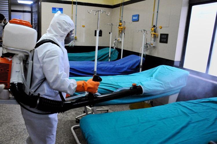 COVID-19 isolation ward in hospital
