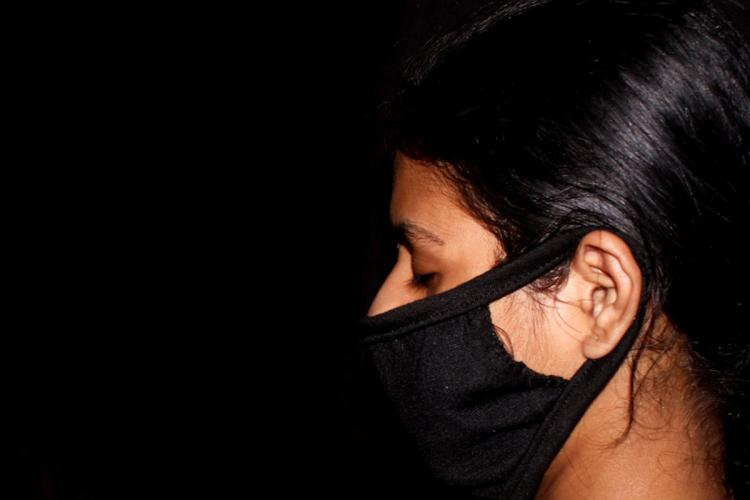 A woman wearing a mask amid the coronavirus pandemic in India