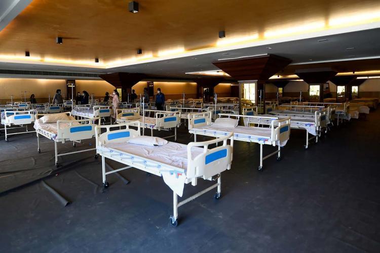A coronavirus isolation ward