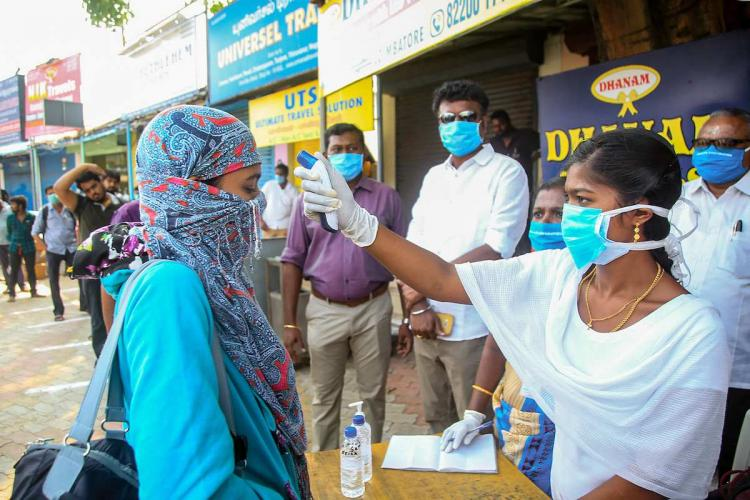 Coronavirus thermal scanning in public places in Tamil Nadu