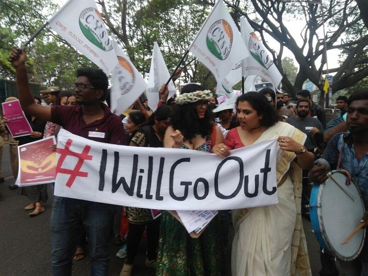 IWillGoOut Bengalureans march to protest restrictions imposed on women