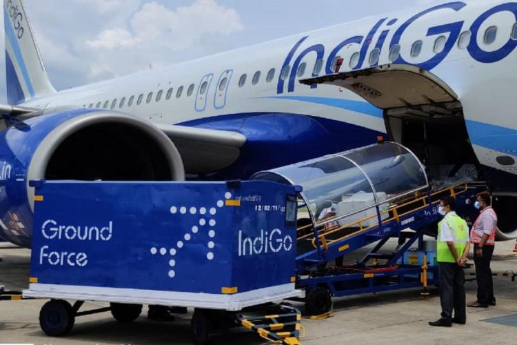 Covishield vaccine consignment being unloaded at Cochin airport