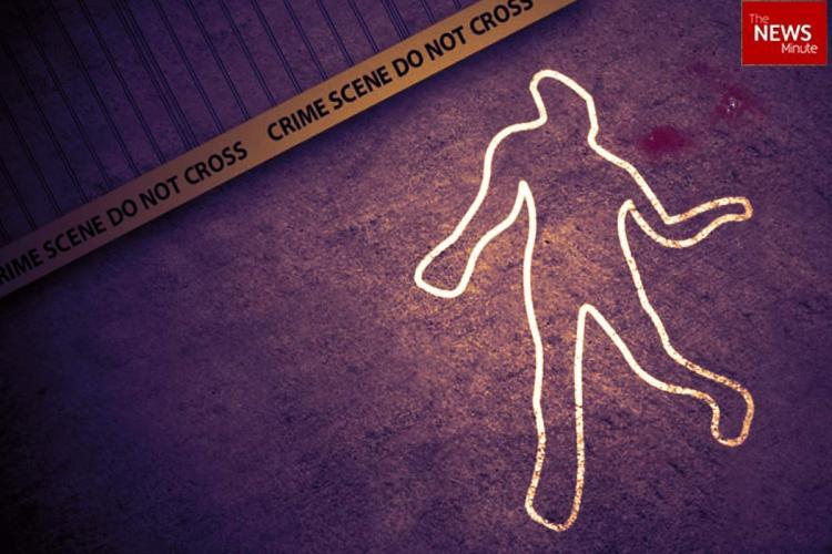 Graphic of a crime scene