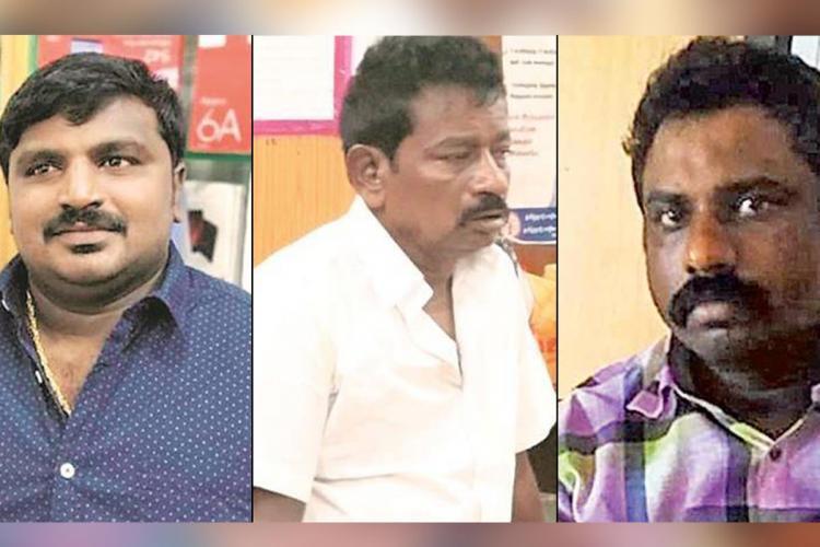 Collage of Bennix, Jayaraj and Rajkumar, who are victims of police custodial violence