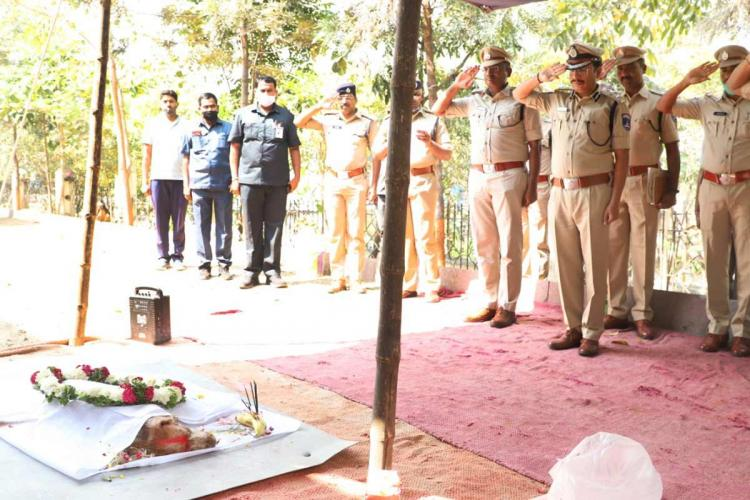 Cyberabad Police sniffer dog Tina given full honours