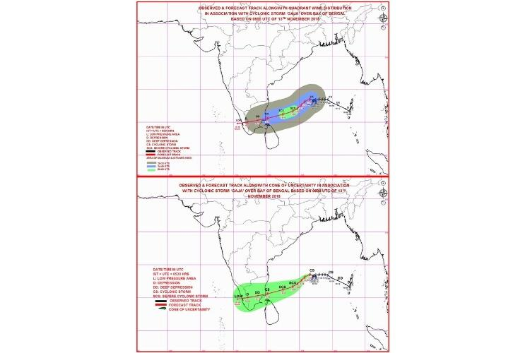Gaja update Cyclone likely to make landfall between Pamban and Cuddalore