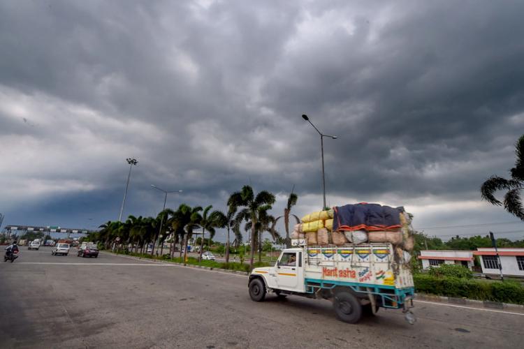Dark clouds envelops ahead of landfall of Cyclone Yaas