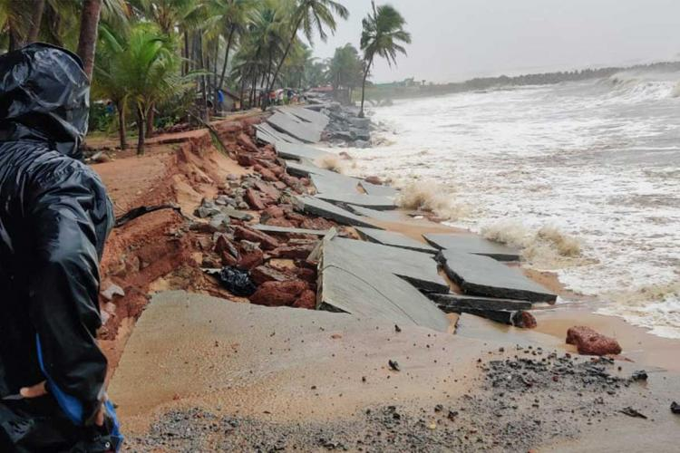 Coastal damage due to Cyclone Tauktae