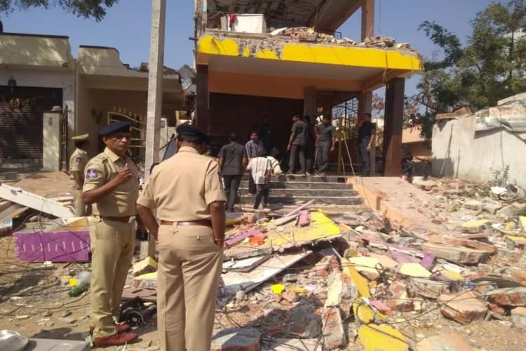 1 dead 9 including children injured in accidental explosion in Hyderabad