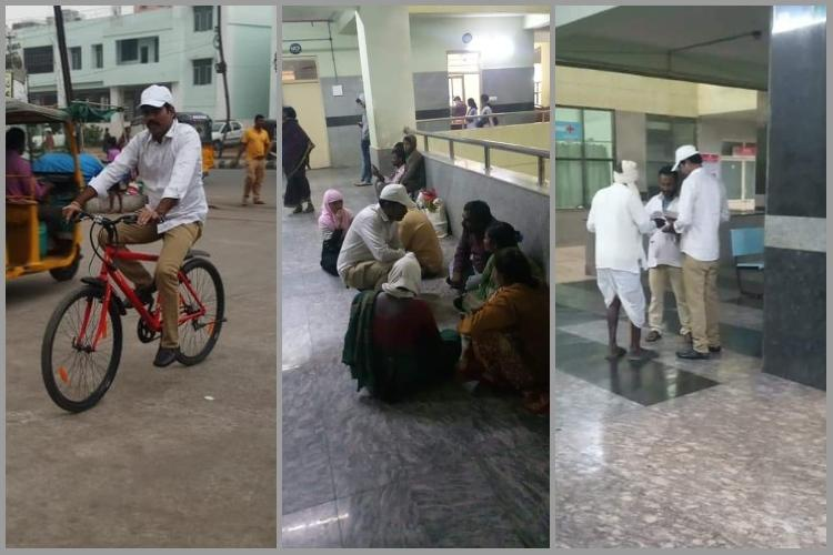 Days after taking charge Telangana Collector cycles to govt hospital for surprise visit