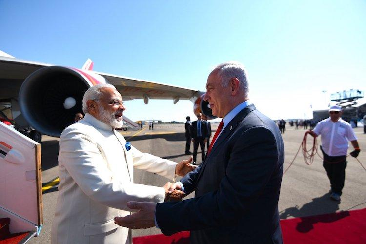 Modi becomes the first-ever Indian PM to step on Israeli soil